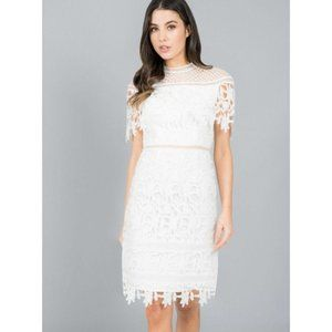 MOD CLOTH Chi Chi Rebeka Crochet Dress Lace White